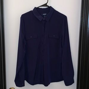 Old Navy Half Button Blouse Top Size Large